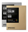 Film Polaroid Color 600 Gold/Silver Frame